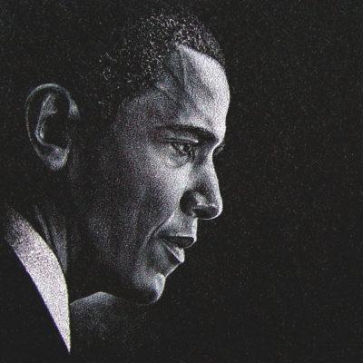 Obama-Etching
