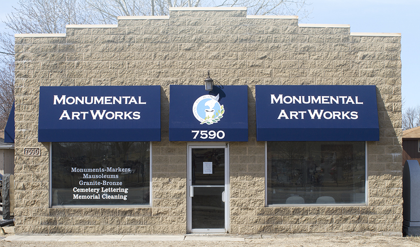 Front Facade of Monumental Artworks Office
