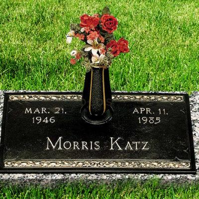Morris Katz Bronze Headstone