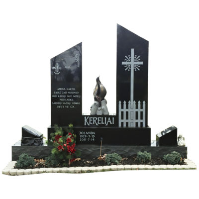 Lithuanian Monument with Stainless Steel fire