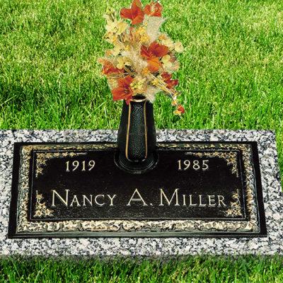 Nancy Miller Bronze Headstone