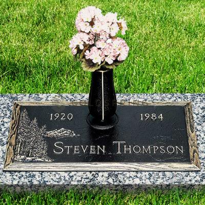 Steven Thompson Bronze Headstone