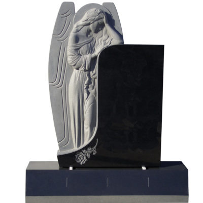 Custom Carved Angel Leaning on Monument