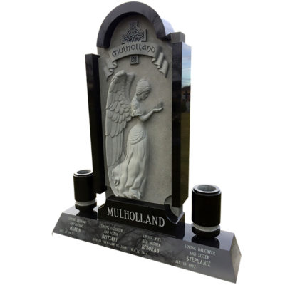 Custom carved angel with Celtic cross